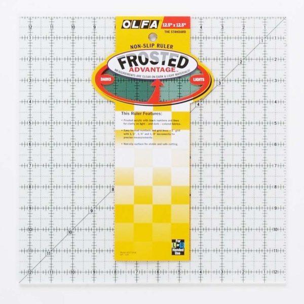 Regolo quadrato 12,5x12,5 inch confezione - Olfa Frosted Advantage