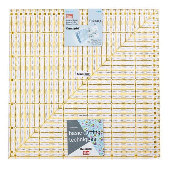 Regolo quadrato 31,5x31,5 cm confezione - Omnigrid Prym