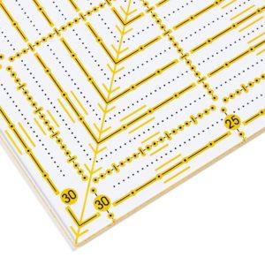 Regolo quadrato 31,5x31,5 cm dettaglio - Omnigrid Prym