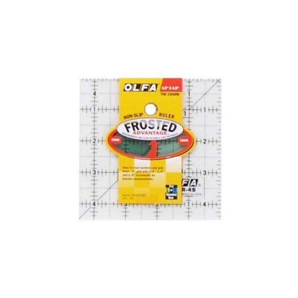 Regolo quadrato 4,5x4,5 inch - Olfa Frosted Advantage