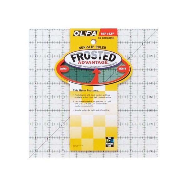 Regolo quadrato 9,5x9,5 inch - Olfa Frosted Advantage