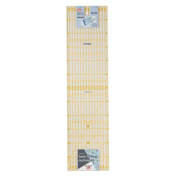 Regolo rettangolare 15x60 cm confezione - Omnigrid Prym