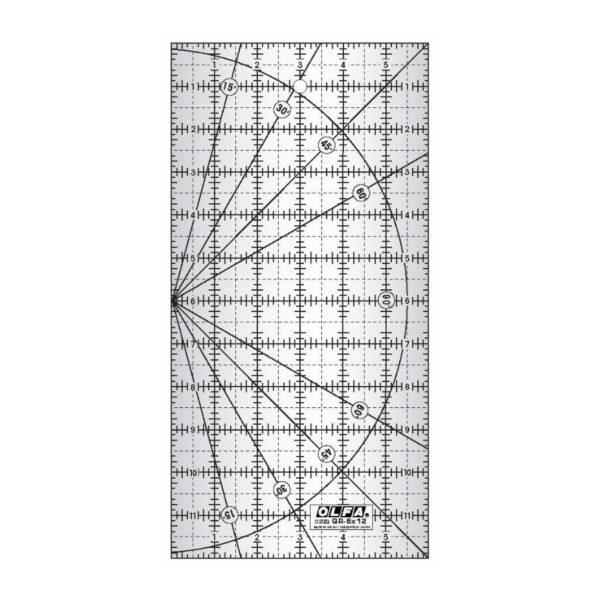 Regolo rettangolare 6x12 inch - Olfa Frosted Advantage