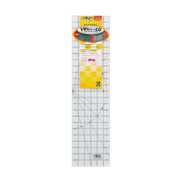 Regolo rettangolare 6x24 inch confezione - Olfa Frosted Advantage