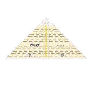Regolo triangolo svelto per tagliare ¼ di quadrato fino a 20cm - Omnigrid Prym