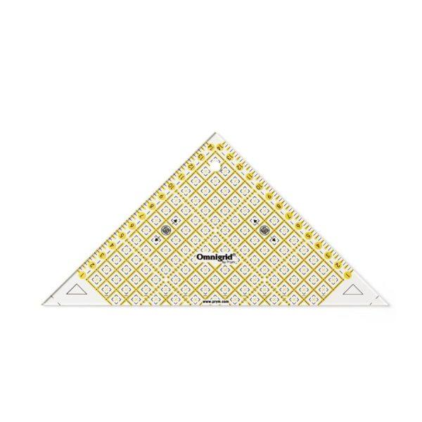 Regolo triangolo svelto per tagliare ½ di quadrato fino a 15cm - Omnigrid Prym