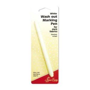 Pennarello cancellabile con acqua bianco - Punta fine - Sew Easy