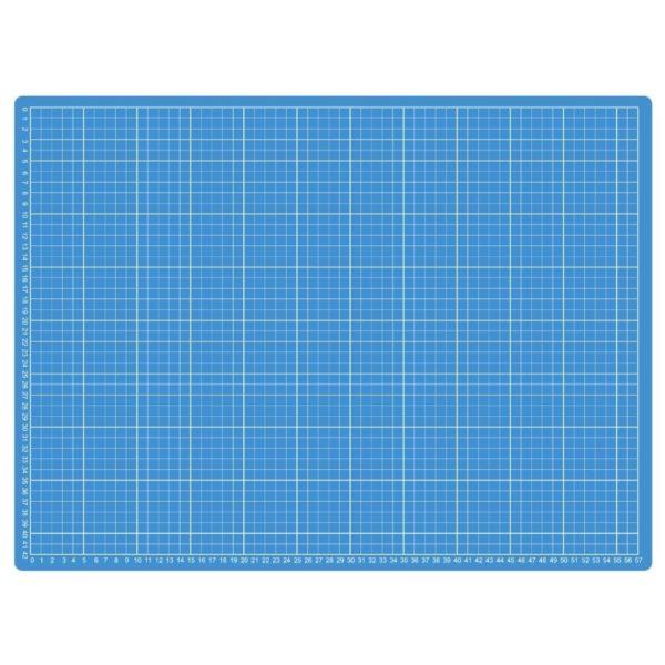 Piano da taglio 60x45 cm bicolore - lato azzurro centimetri - Sew Mate - Filomania