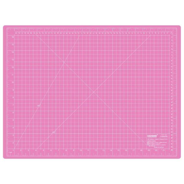 Piano da taglio 60x45 cm bicolore - lato rosa pollici - Sew Mate - Filomania