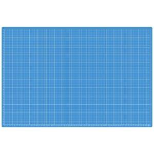 Piano da taglio 60x90 cm bicolore - lato azzurro centimetri - Sew Mate - Filomania