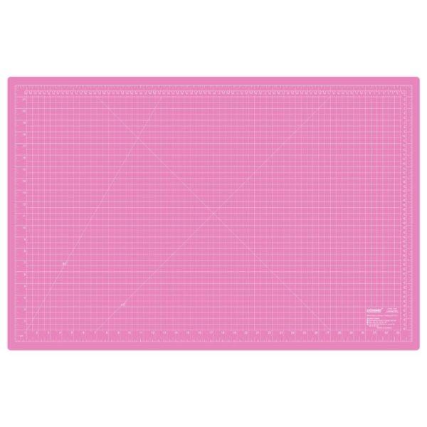 Piano da taglio 60x90 cm bicolore - lato rosa pollici - Sew Mate - Filomania