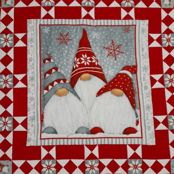 Quilt gnomi Natale 2020 - box creativa - kit - Filomania