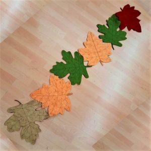 Runner con foglie autunnali 2020 - box creativa - kit - Filomania