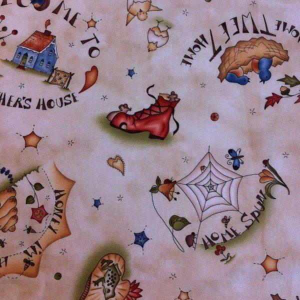Tessuto in cotone americano - case - autunno - country - Filomania
