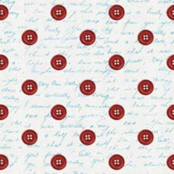 Tessuto in cotone americano - fantasia - cucito - creativo - bottoni - Filomania