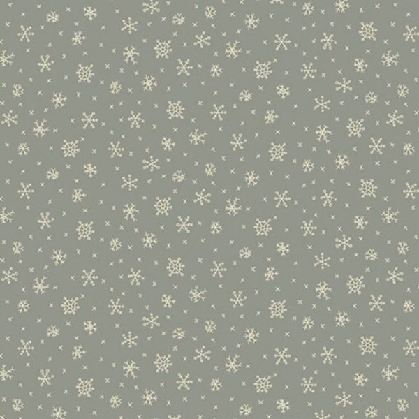 Tessuto in cotone americano - fantasia - fiocco - di - neve - ghiaccio - azzurro - Anni - Downs Filomania