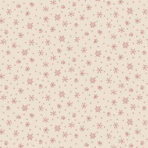 Tessuto in cotone americano - fantasia - fiocco - di - neve - ghiaccio - rosso - Anni - Downs Filomania