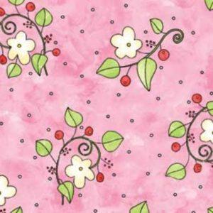 Tessuto in cotone americano - fantasia - fiori - foglie - colorati - Filomania