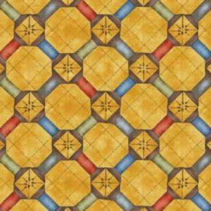 Tessuto in cotone americano - fantasia - geometrico - country - Filomania