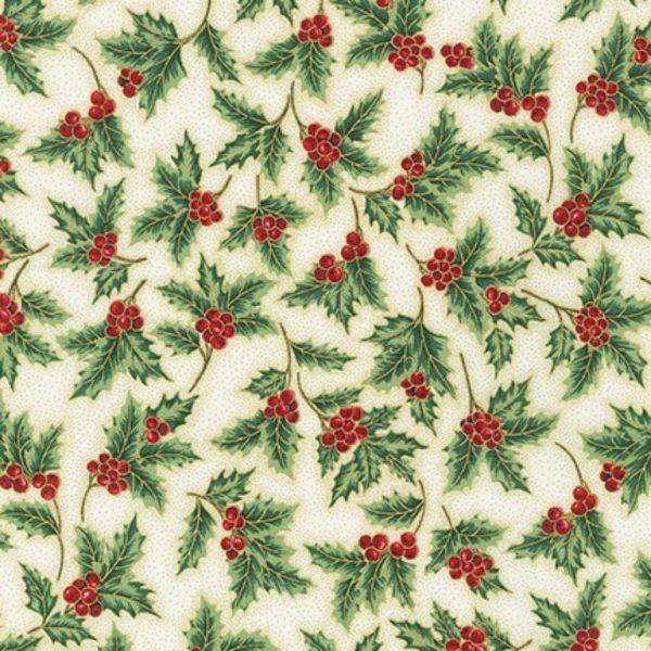 Tessuto in cotone americano - fantasia - natale - aghifoglio - Filomania