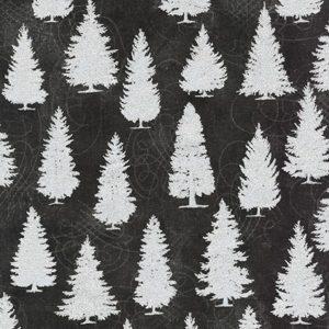 Tessuto in cotone americano - fantasia - natale - alberi - abeti - Filomania