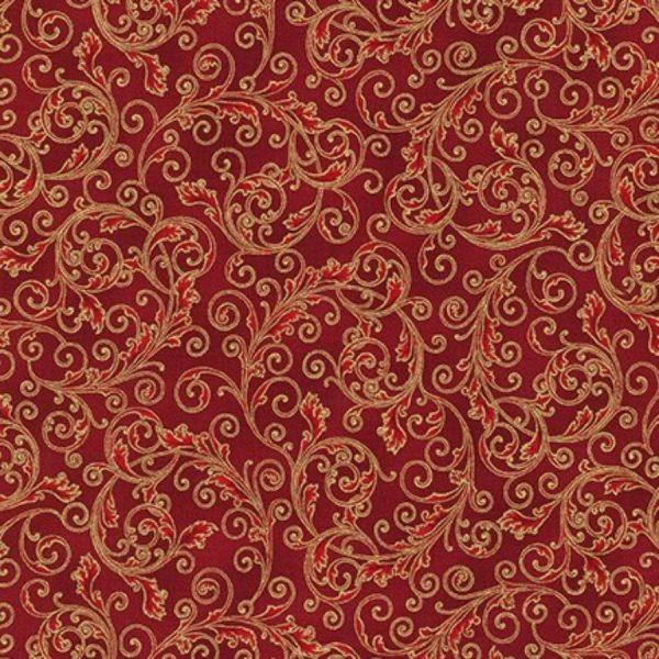 Tessuto in cotone americano - fantasia - natale - arabesco - Filomania