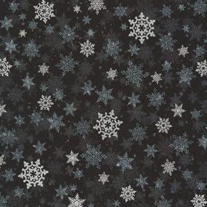 Tessuto in cotone americano - fantasia - natale - fiocco di neve - Filomania
