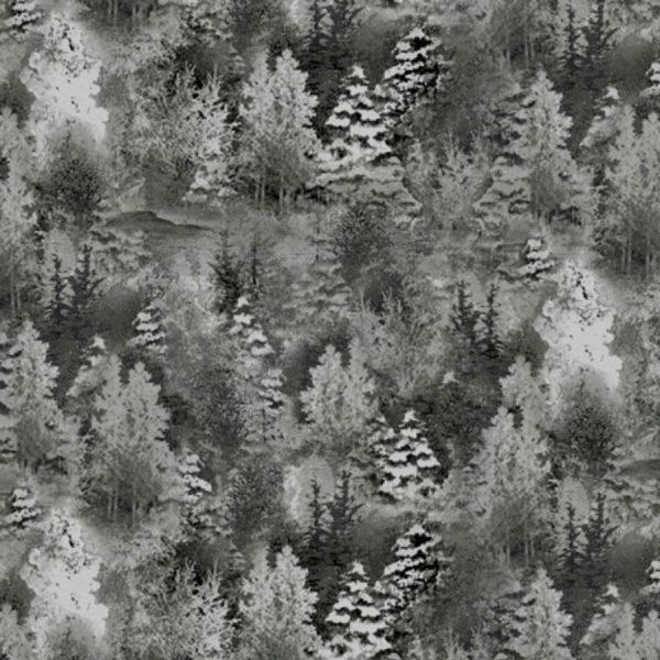 Tessuto in cotone americano - fantasia - natale - paesaggio - Filomania