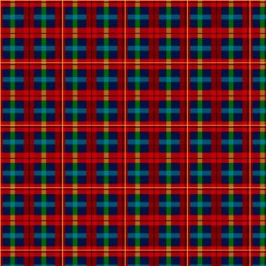 Tessuto in cotone americano - fantasia - natale - scozzese - Filomania