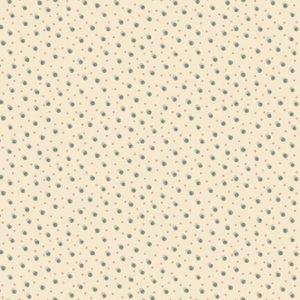Tessuto in cotone americano - fantasia - neve - pois - beige - Anni - Downs - Filomania