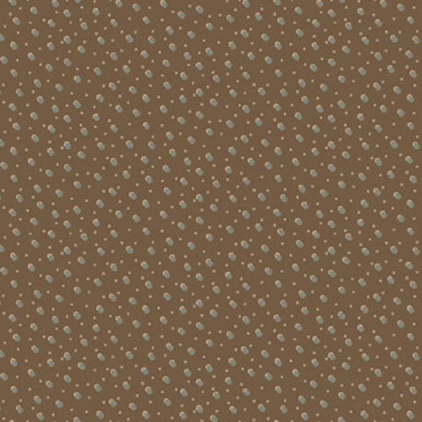 Tessuto in cotone americano - fantasia - neve - pois - marrone - Anni - Downs - Filomania