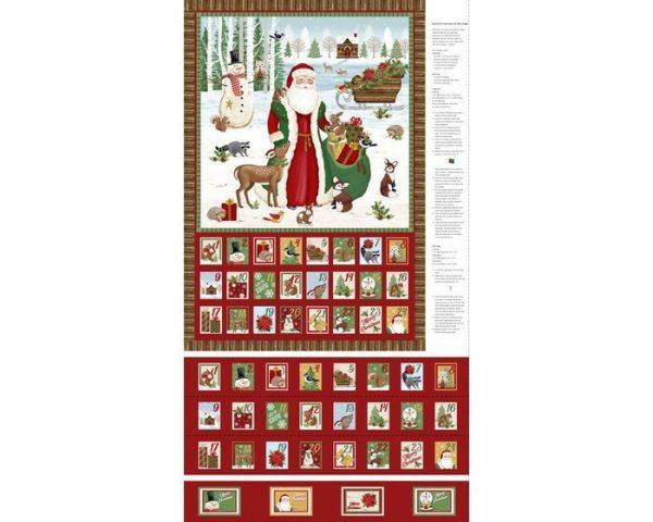 Pannello calendario dell'avvento Babbo Natale - Filomania