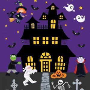 Tessuto in cotone americano - fantasia - pannello - halloween - casa - Filomania