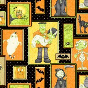 Tessuto in cotone americano - fantasia - personaggi - halloween - Filomania