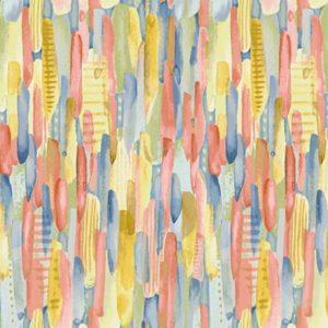 Tessuto in cotone americano - fantasia - pittura - Filomania
