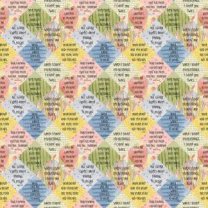 Tessuto in cotone americano - fantasia - scritte - primavera - Filomania