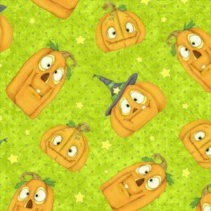 Tessuto in cotone americano - fantasia - zucche - halloween - Filomania