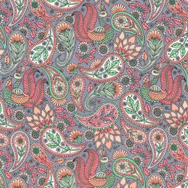Tessuto in cotone americano - laminato - fantasia - cashmere - Filomania