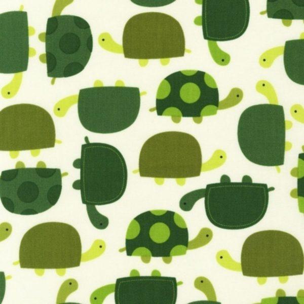 Tessuto in cotone americano - laminato - fantasia - tartarughe - Filomania