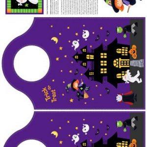 Tessuto in cotone americano - pannello - borsa - fantasia - casa - halloween - Filomania