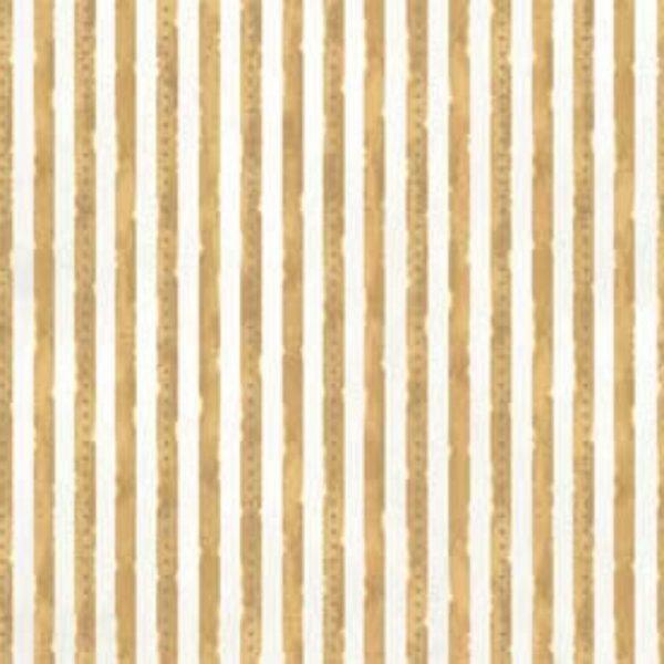 Tessuto in cotone americano - riga - beige - bianco - Filomania