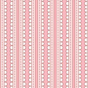 Tessuto in cotone americano - rosa - riga - bianca - Filomania