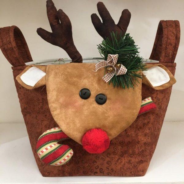 Cestino di Natale 2020 - renna - kit - box creativa - Filomania