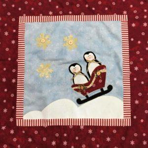 Cuscino con applicazioni di Natale 2020 - pinguini - Filomania