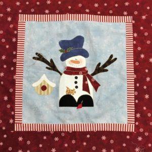 Cuscino con applicazioni di Natale 2020 - pupazzo di neve - Filomania