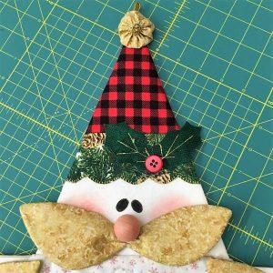 Porta panettone Babbo Natale 2020 dettaglio - Box creativa - kit - Filomania