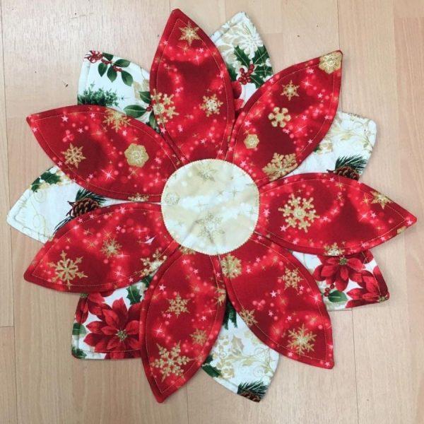 Sottopiatto fiore di Natale - kit - box creativa - Filomania