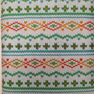Tessuto in cotone americano - fantasia - effetto - lana - Filomania