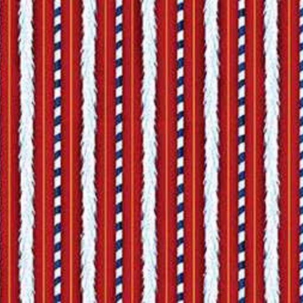 Tessuto in cotone americano - fantasia - riga - natalizia - Filomania