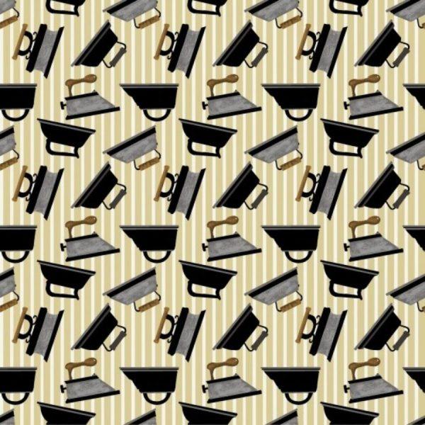 Tessuto in cotone americano - ferri da stiro - Filomania